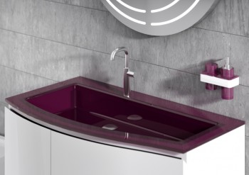 Regia presenta il bagno colorato batik light e il lavabo - Regia mobili bagno ...