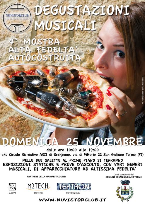 Degustazioni Musicali: Domenica 25 novembre a San Giuliano Terme (PI)