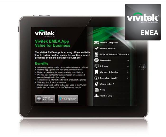 Vivitek EMEA App è ora disponibile in Apple App Store