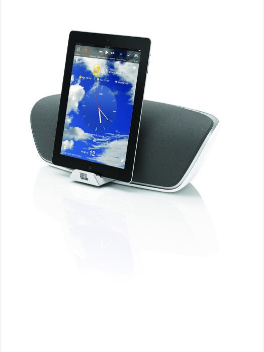 Potenza e tecnologia wireless con JBL On Beat Venue, l'ultima creazione di JBL che trasforma il proprio iPad in una centrale multimediale ad alta fedeltà
