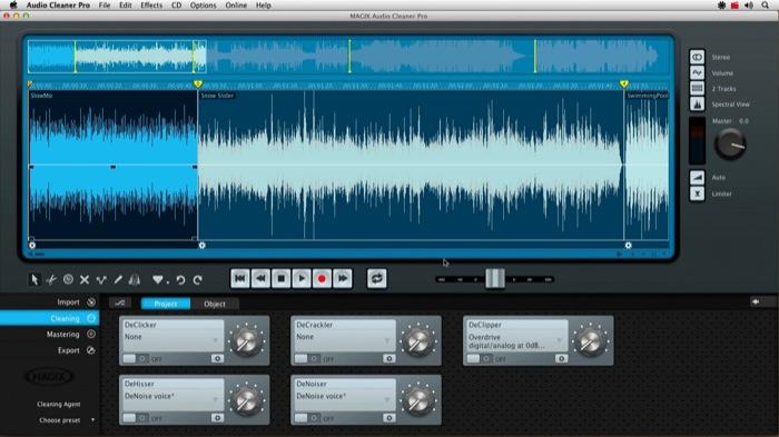 Nuovo MAGIX Audio Cleaner Pro per Mac OS X