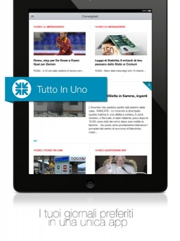 Newscron - screenshot per iPad