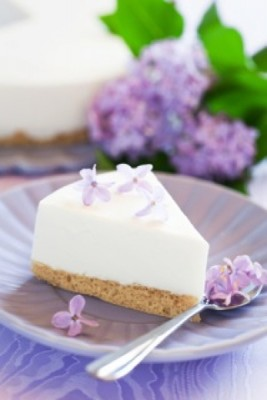 Cheesecake ai fiori di lilla