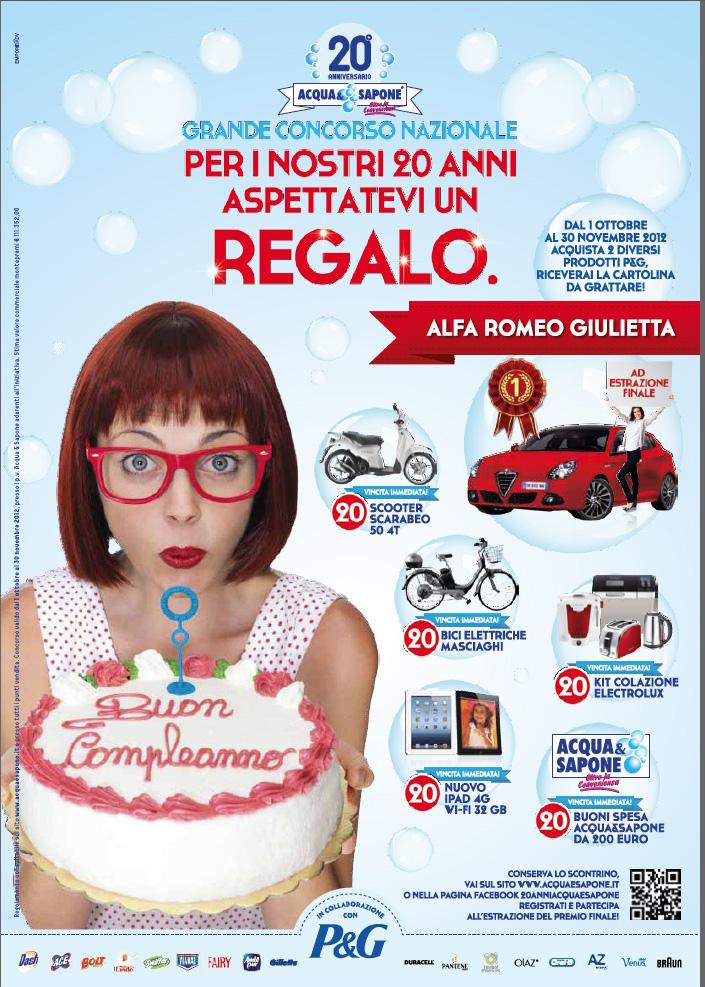 Acqua & Sapone per festeggiare il 20° compleanno lancia il suo primo concorso a livello nazionale