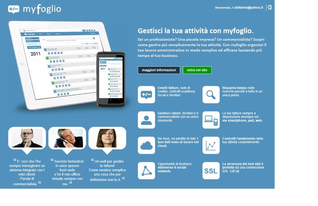 """Debutta sul web myfoglio, il """"professional network"""" per la fatturazione on-line di aziende e professionisti"""