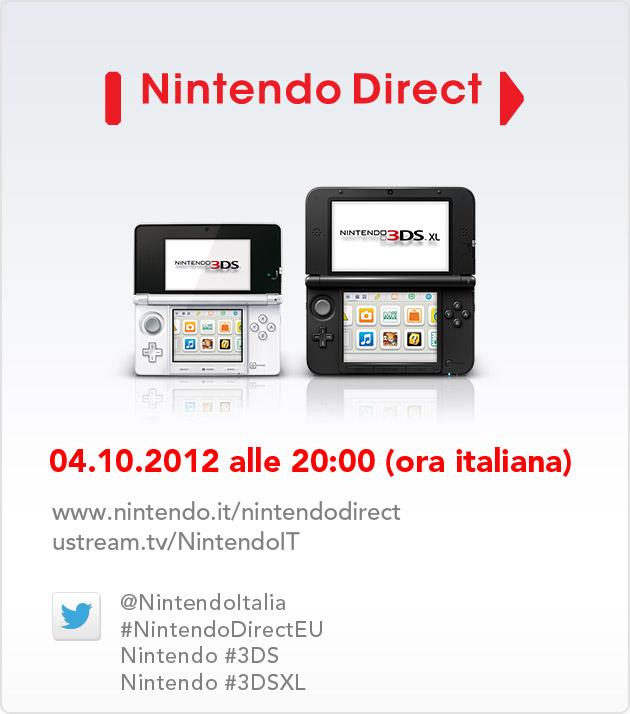 NINTENDO DIRECT IL 4 OTTOBRE DEDICATO A NINTENDO 3DS