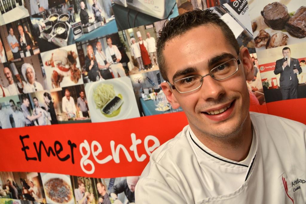 Diego Rigotti insignito del premio nel corso della rassegna «Cooking for Art»