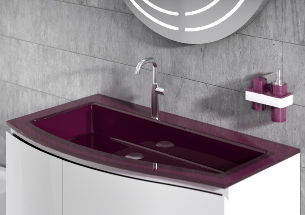 REGIA presenta il bagno colorato Batik light e il lavabo Big