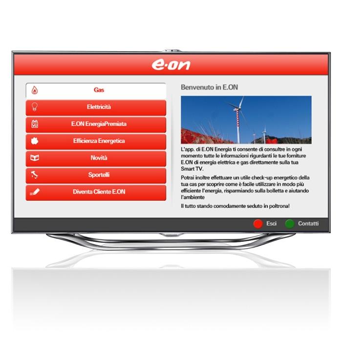 E.ON Energia TV, la prima app per monitorare e ridurre i consumi di gas ed elettricità dal televisore di casa!