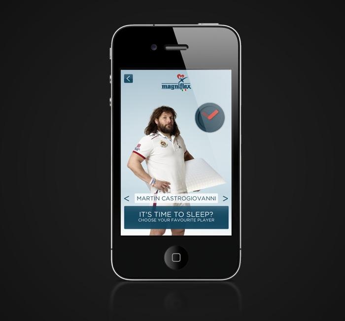 Svegliati insieme ai campioni della Nazionale di Rugby grazie alla nuova App Magniflex