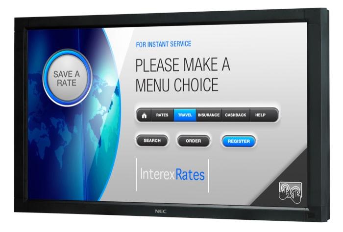 NEC Display Solutions presenta migliorate capacità touch screen nella sua gamma di public display NEC MultiSync