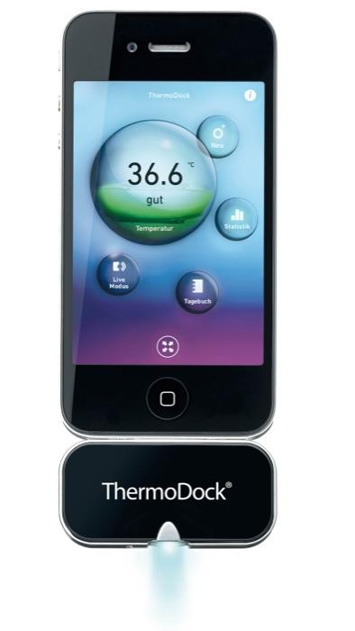 Medisana VitaDock®: ThermoDock la salute si cura con iPhone, iPad e iPod!