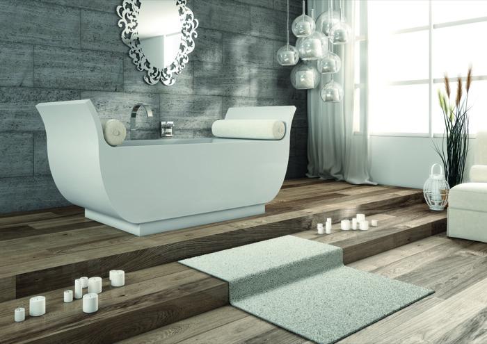PLANIT presenta la vasca da bagno ALIBABA, interamente realizzata in Corian