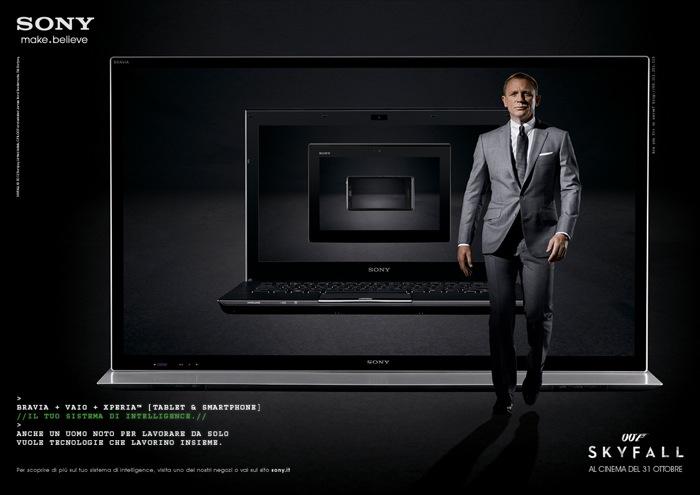 Una nuova missione per James Bond nell'ultima campagna pubblicitaria internazionale di Sony