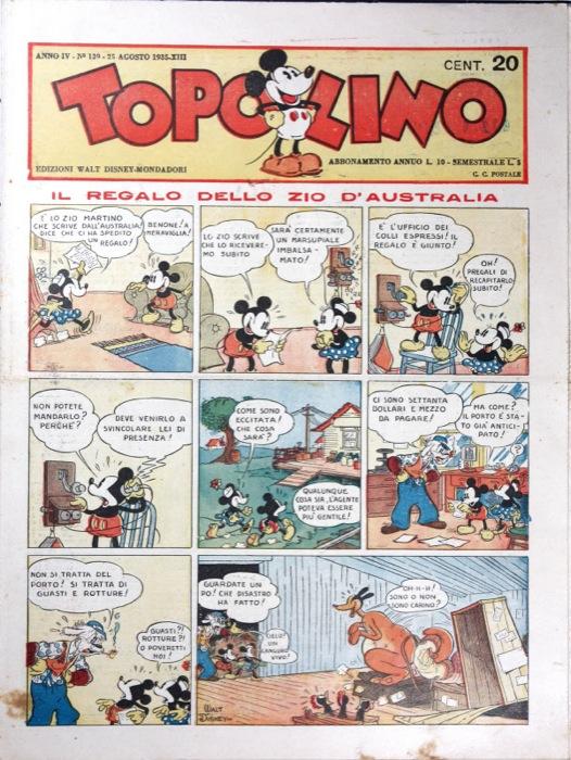 """Il settimanale TOPOLINO compie 80 anni e si mette in mostra! """"STORIE DI UNA STORIA"""""""