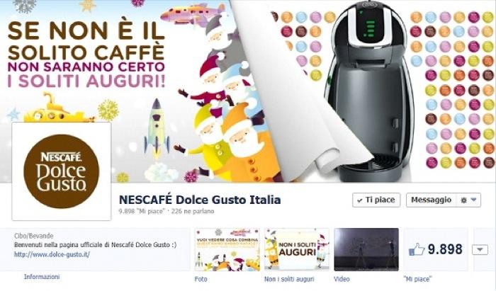 """Arrivano su Facebook gli speciali """"auguri a tema"""" di Nescafé Dolce Gusto"""