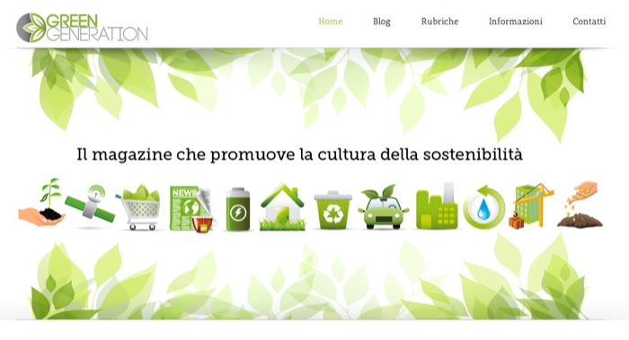 Nasce GREENGENERATION.IT…un'idea GREEN di Sabrina Aquilani per la nuova generazione GREEN!