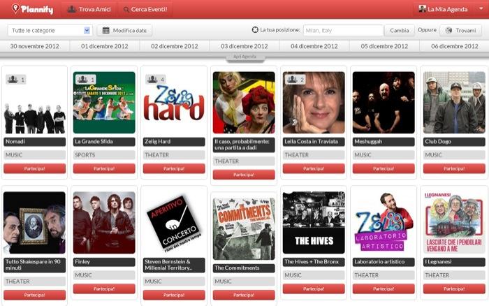 Nasce Plannify: motore di ricerca dedicato agli eventi