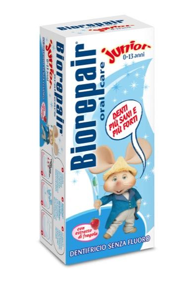 Biorepair Junior 0-13 anni. L'unico dentifricio con microRepair che rafforza e remineralizza i denti dei bambini