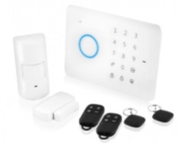 e-Alarm, Starter kit per sistema di allarme wireless su cellulari. Sistema di allarme controllato mediante applicazione wireless affidabile basato su scheda SIM per cellulari