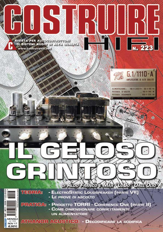 COSTRUIRE HIFI N. 223 – NOVEMBRE 2017